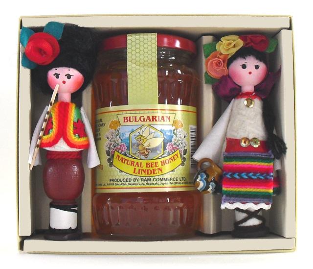 リンデンはちみつとローズオイル人形のセット
